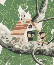 Image of [Little People with tree house] - Scott, Walt, 1894-1970